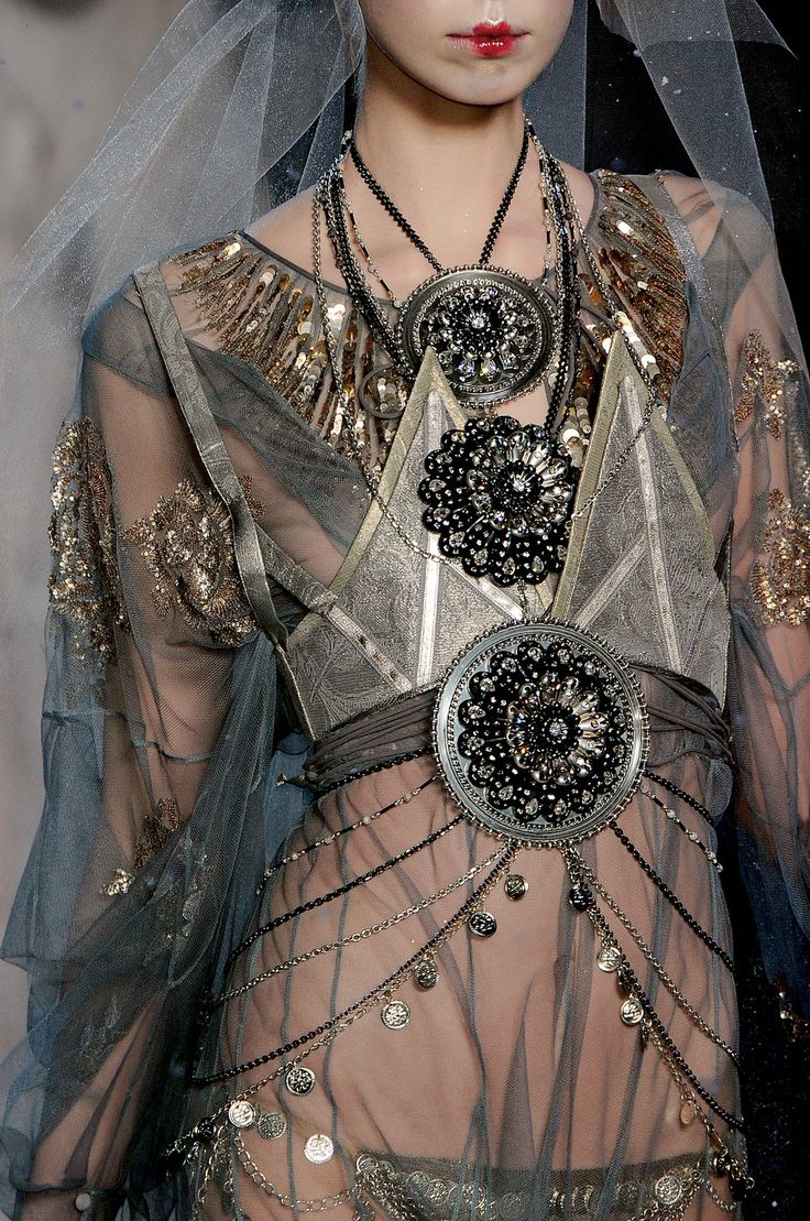 John Galliano at Paris Fashion Week Fall 2009 - StyleBistro Clash of eras: art nouveau, and warrior