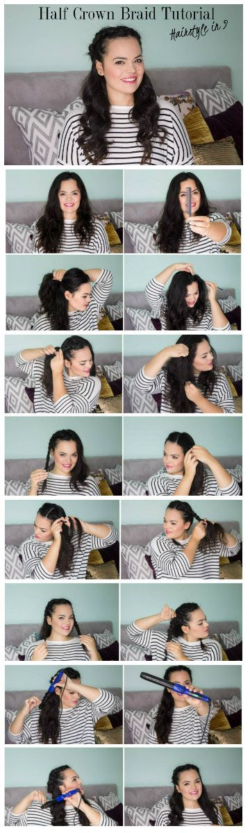 Easy Fall Hairstyle. Half Crown Braid Tutorial now on www.thedailylace.com