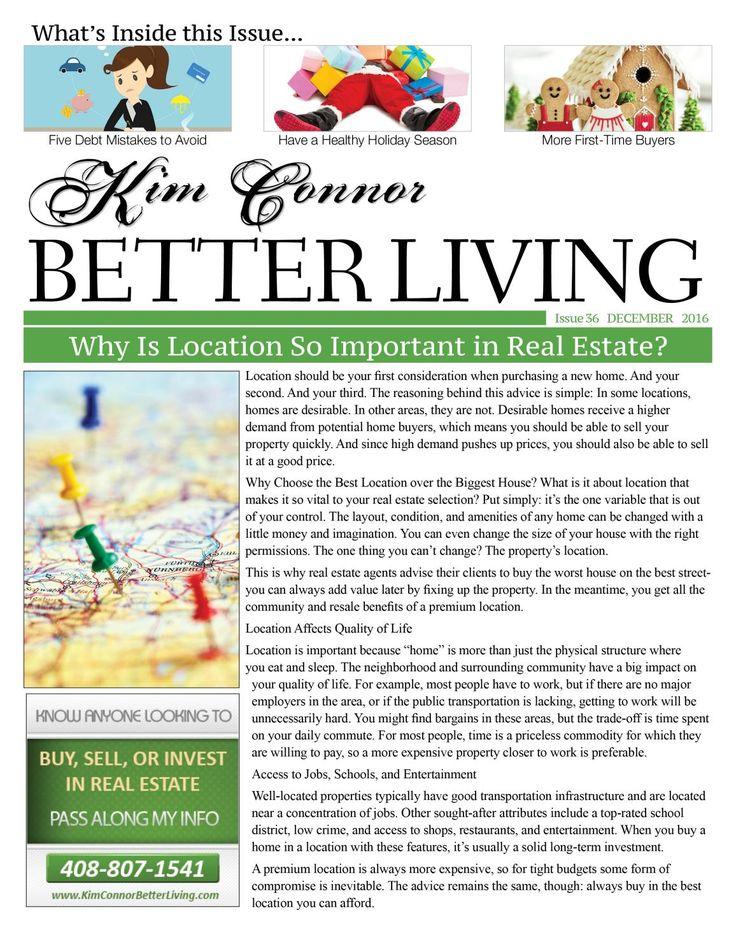 Kim Connor Real Estate Newsletter - December