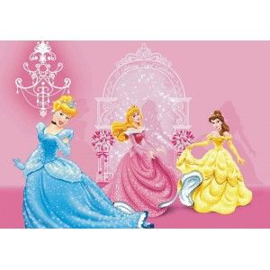 Disney hercegnős faltapéta (160 x 115 cm)