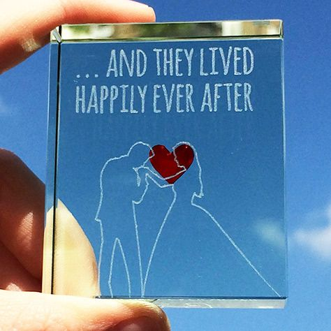 The perfect end to any fairytale, 'And they lived happily ever after'. Share in your happiness with this gorgeous glass token, with a bright red heart in the centre. #Love #Happiness #Fairytale #Gift #Anniversary #Spaceform #London