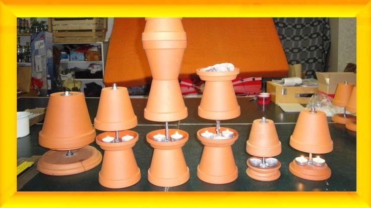 Blumentopf- Kerzen- Heizung selber bauen - selbst basteln - Teelichtofen...