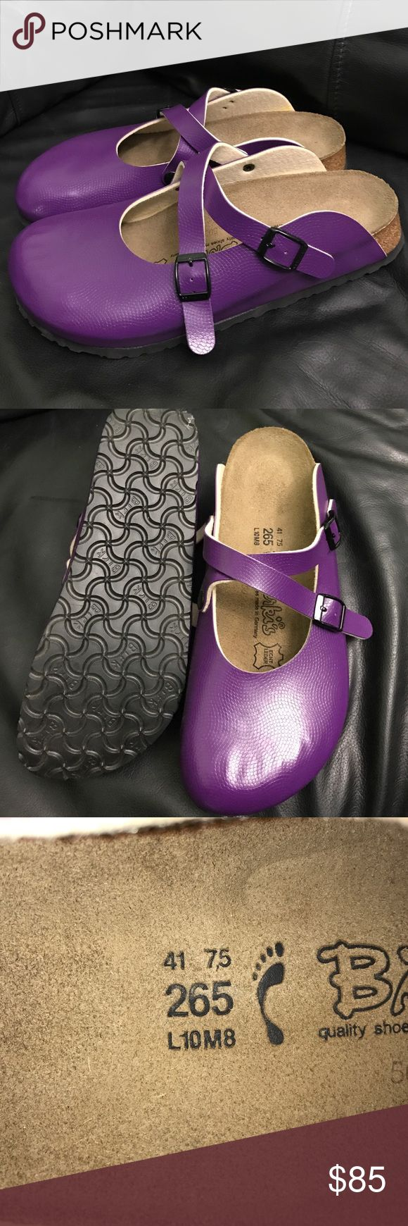 Brand new! Make me offers Birkis Dorian clog Brand new never worn! Purple Birkenstock Shoes Mules & Clogs