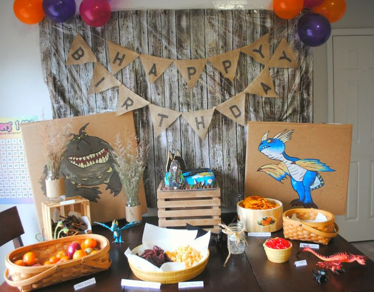 Gingerly Made: How to Train Your Dragon Birthday Party