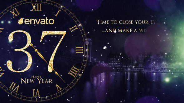 New Year Countdown 2019 Celebration Countdown Clock Fireworks Glamorous Glow Gold Golden Clock Gold New Years Countdown Happy New Year 2019 Happy Year