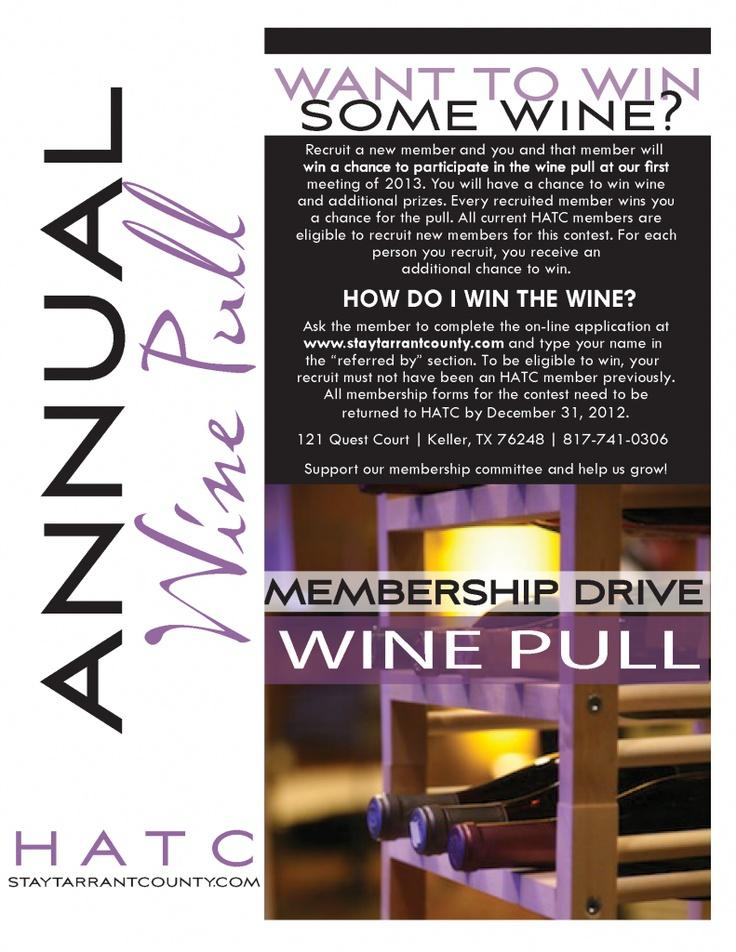 Wine Pull Membership Drive Wine Pull Ideas