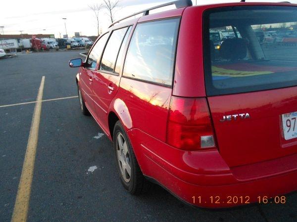 red jetta wagon