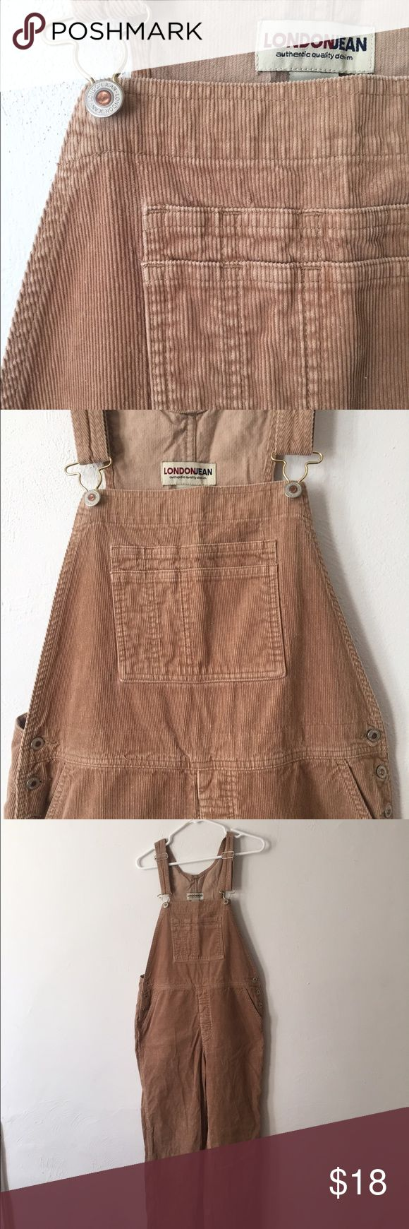 Vintage Tan Corduroy Overalls Just a little more unique than classic blue jean overalls, these are easily incorporated into your fall wardrobe! Fits like an 8/10 with adjustable straps. Vintage Jeans Overalls