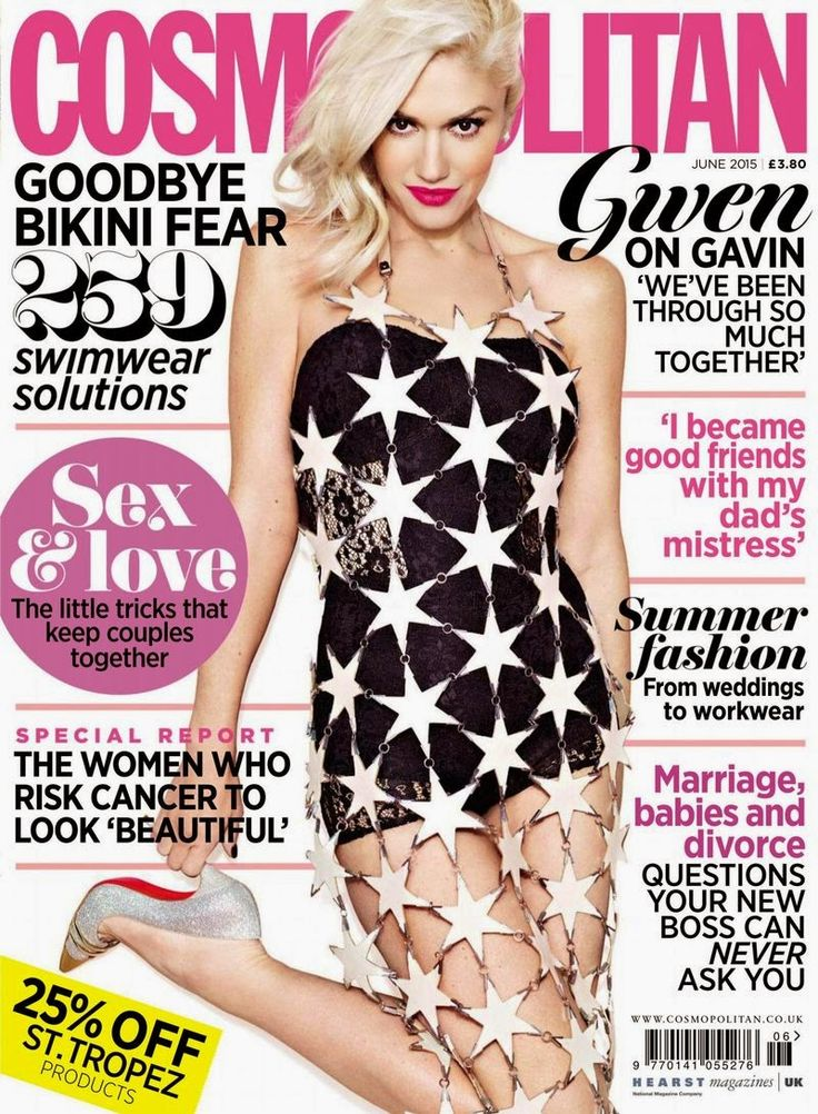 Singer, Fashion Designer, Actress @ Gwen Stefani - Cosmopolitan UK, June 2015