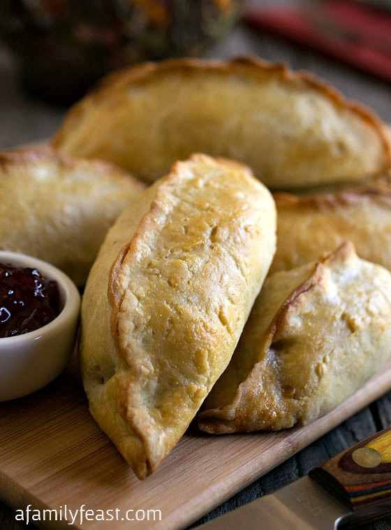 New England Pasty - A delicious and different way to enjoy Thanksgiving leftovers.  Turkey, gravy, mashed potatoes and more in a tender, flaky golden crusted hand pie.