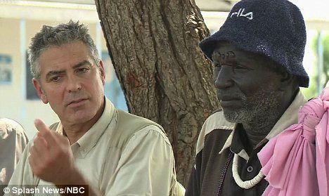 George Clooney visits Sudan as Ambassador for humanity.