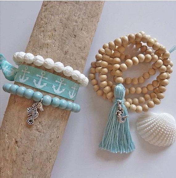 gland long collier bijoux de sirène collier de par beachcombershop