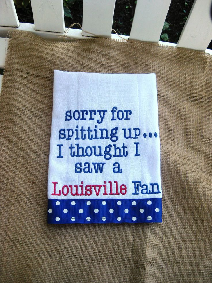 Embroidered burp cloth  Kentucky by YouandMEembroidery on Etsy, $16.00    Jordan would love this!!!