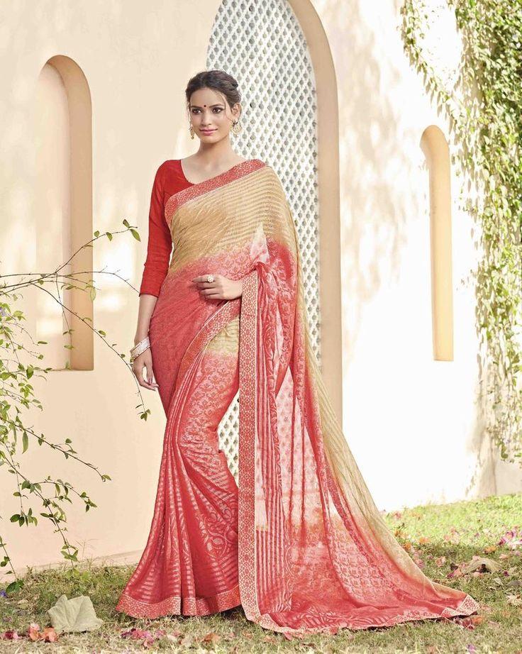 Mejores 66 imágenes de Party Wear Sarees en Pinterest | Vestido sari ...