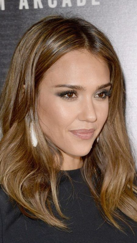 Jessica Alba light brown hair 2017                                                                                                                                                                                 More