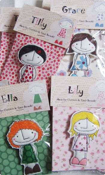 Handmade and Stitched Brooches by Tania