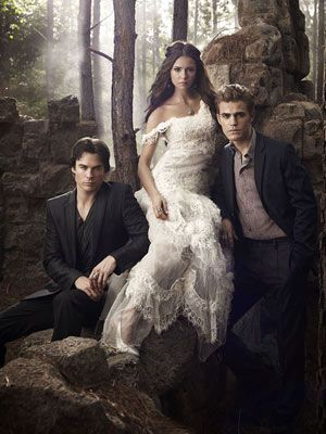 The Vampire Diaries - Stefan, Damon and Elena