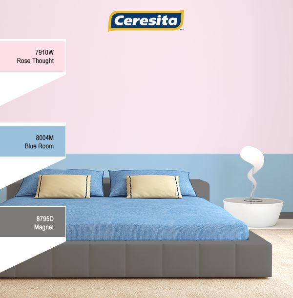 #CeresitaCL #PinturasCeresita #Color #Decoración #Habitación #Matrimonial #Tendencia #Estilo *Códigos de color sólo para uso referencial. Los colores podrían lucir diferentes, según calibrado de su monitor.