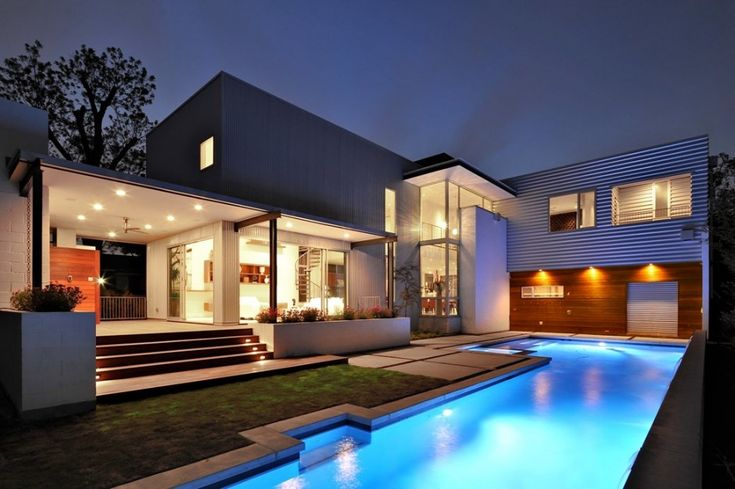Pool Luxurious-pool-house-designs-pictures-and-Architectural-House-Design-Completed-With-outdoor-lighting-ideas 27 Aweome Picture of Pool House Designs