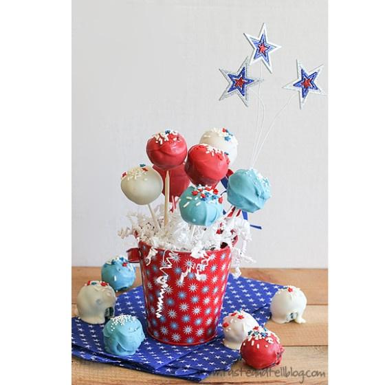 Red and Blue Velvet Cake Pops    http://www.tasteandtellblog.com/4th-of-july-week-red-and-blue-velvet-cake-pops/