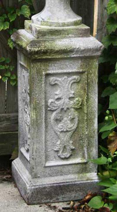 Thinks Of Just Getting An Urn And Pedestal And Filing With Evergreen Shade  Plants.