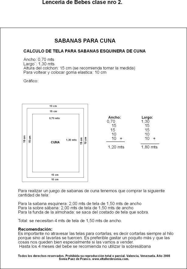 sabanas para cuna- calculo de tela ara la sabana esquinera El Taller de Sonia 1507674_10152072875448280_1353589720_n.jpg (614×881)