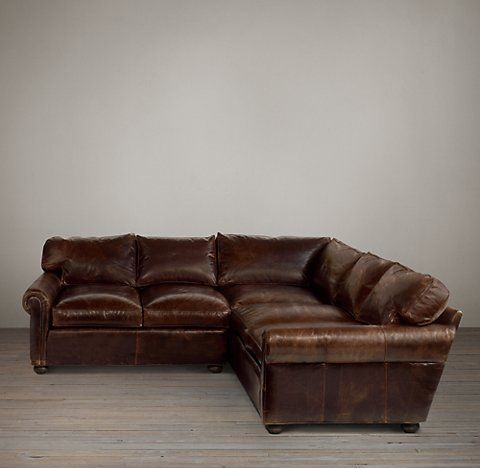 Lancaster Leather Sectionals | RH