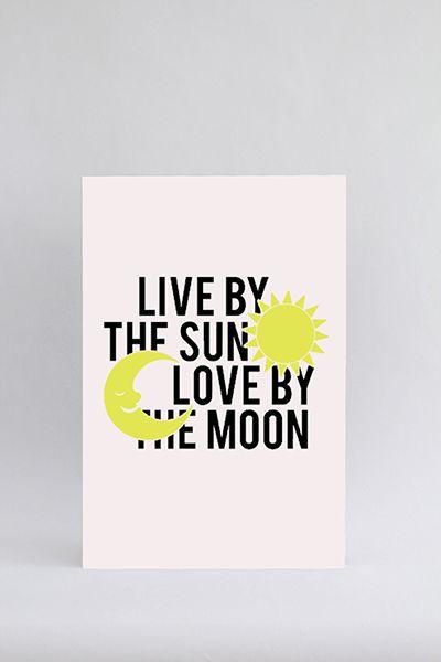 Live by the sun - wit en geel