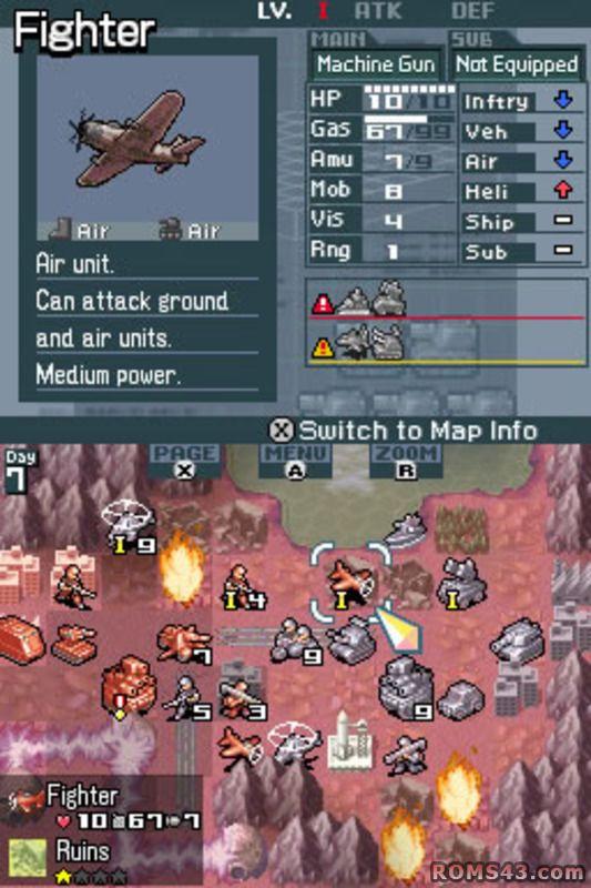 advance wars dark conflict screenshot - Google zoeken