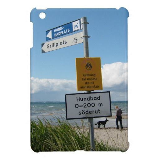 Dog Beach in Råå Sweden iPad Mini Cases