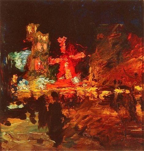 Moulin Rouge by Ludwik de Laveaux (Polish 1868-1894)