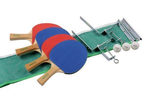 Halex 57325 Reflex 4.5 Four-Player Table Tennis Set by Halex. $25.75. Amazon.com                The Halex 57325 Competition 4000 Four-player Table Tennis Set is perfect for families, as well as friendly, competitive gatherings. This set features a six-inch by 66-inch nylon mesh net with slip-on metal sleeves and durable steel posts. The Competition 4000 comes complete with four five-ply hardwood paddles with natural pip-up rubber in assorted colors. The foam spong...