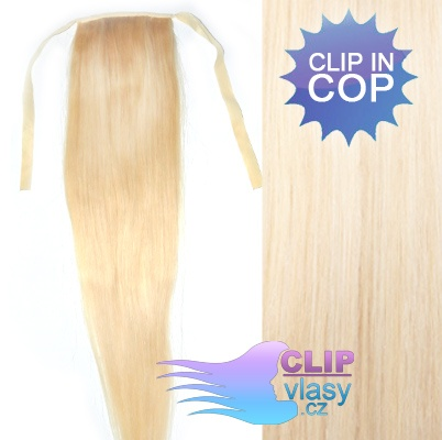 Blond clip in cop