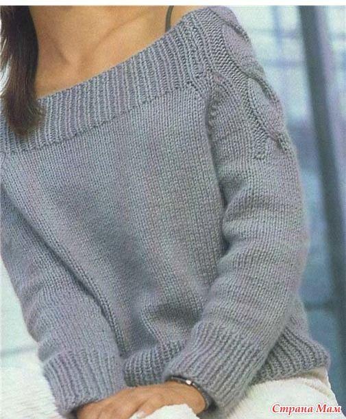 Доброго времени суток, девочки! Приступаем к обновлению нашего гардеробчика на осень-зиму! И начнем с такого простого и стильного реглана, связанного сверху:
