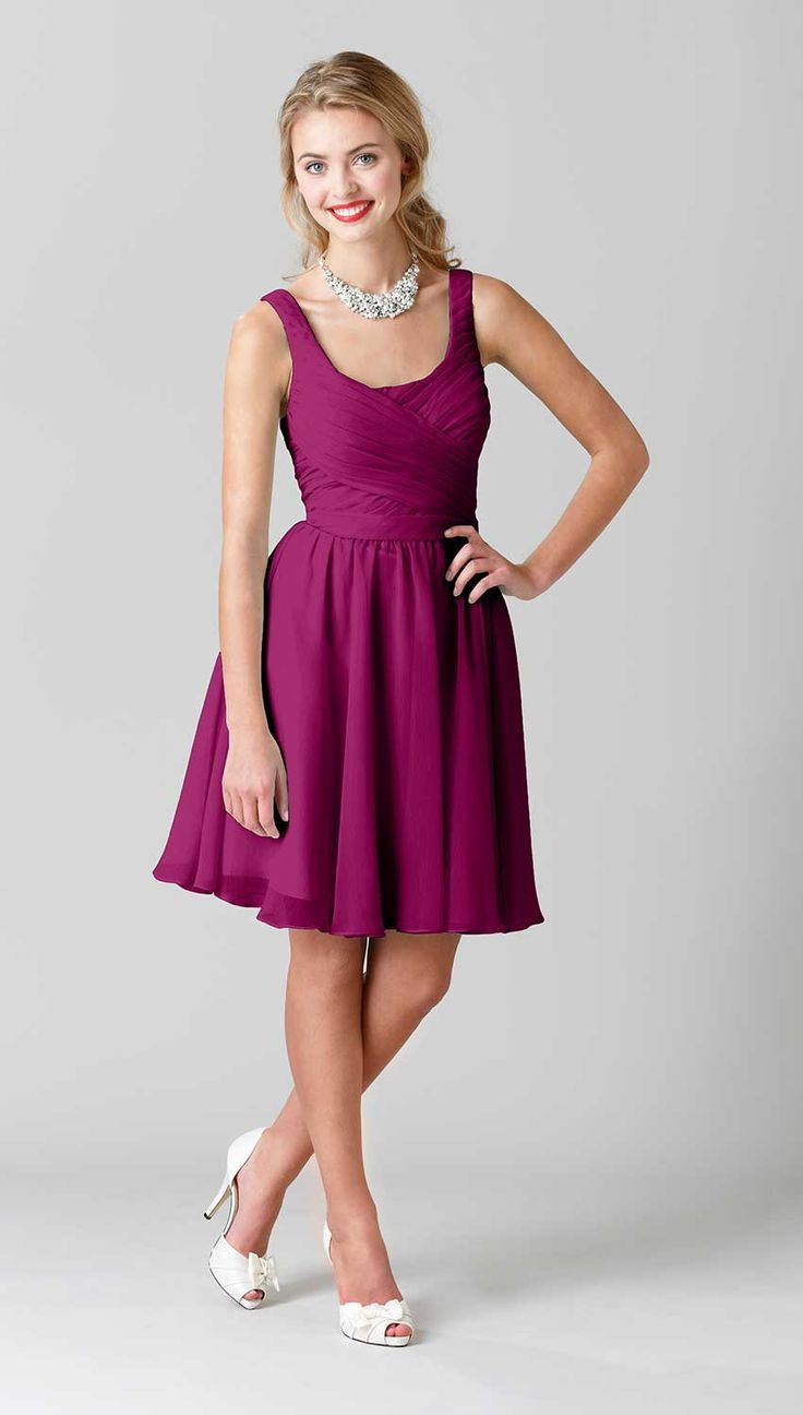 Vibrant, bold, and chic - this is the perfect purple bridesmaid dress for a summer or fall wedding.