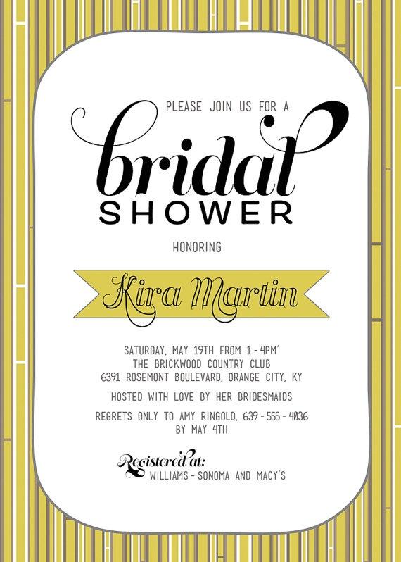 Bridal Shower Invitation: Modern Yellow, Yellow Inspiration, Wedding Invitations, Brittany Bridal, Bridal Shower Invitations, Invitations Diy, Inspiration Design, Invitations Modern, Baby Shower