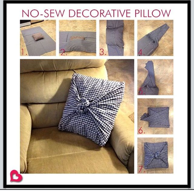 12 best images about No sew pillows on Pinterest Sacks, Acrylics and Make curtains