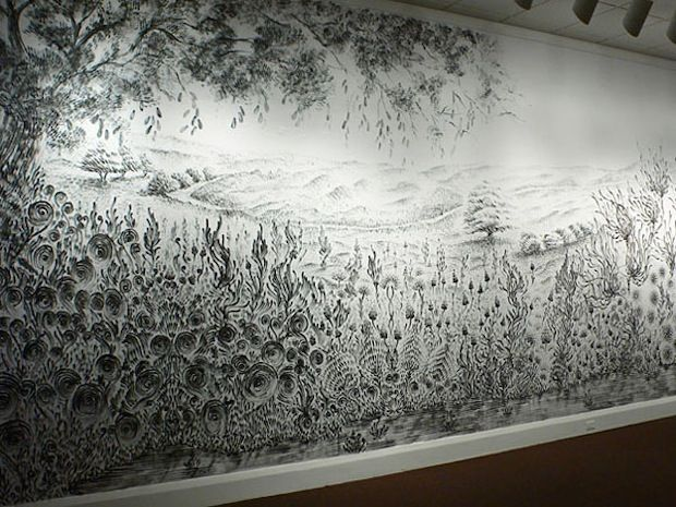 Judith Ann Braun's charcoal dust work is amazing!: Judith Braun, Artists, Anne Braun, Fingers Paintings, Judith Anne, Drawings Art, Finger Painting, Landscape Paintings, Murals