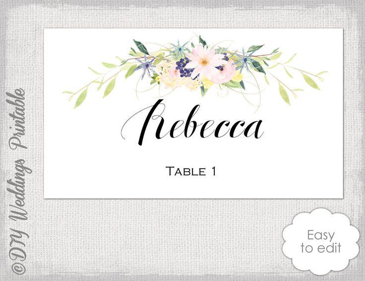 P es 25 nejlep ch n pad na t ma Place Card Template na Pinterestu – Word Name Card Template