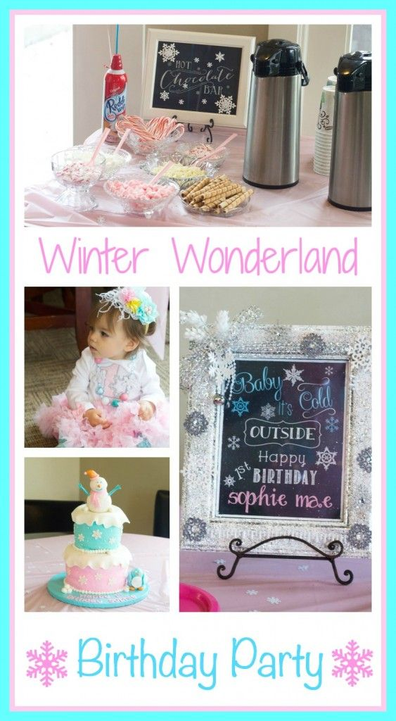 Winter Wonderland 1st Birthday Party Ideas!