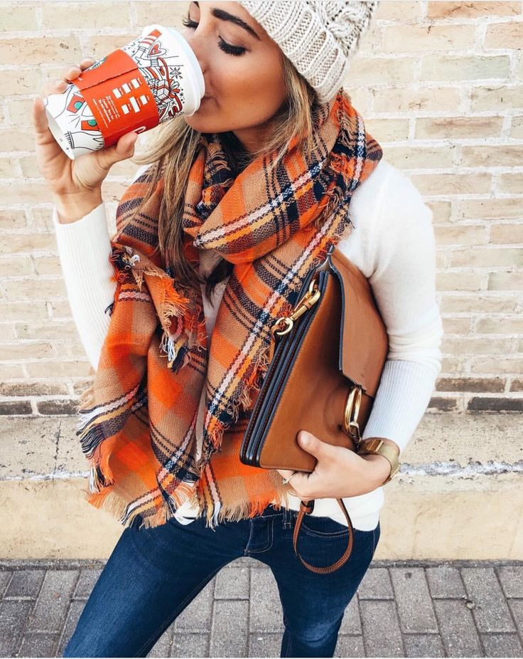 winter scarf outfit on sale