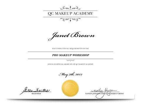 Pro Makeup Workshop Certificate Everything Nails Polish