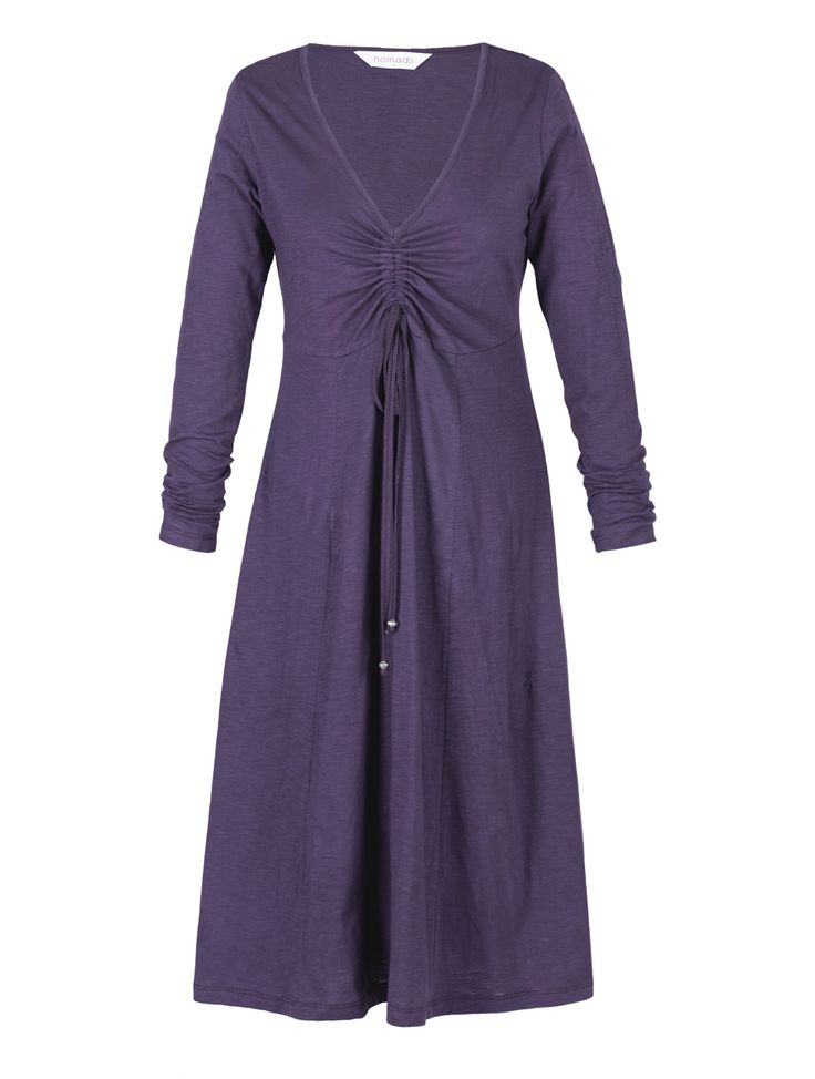 Long Sleeve Ruched Dress | Nomads Clothing