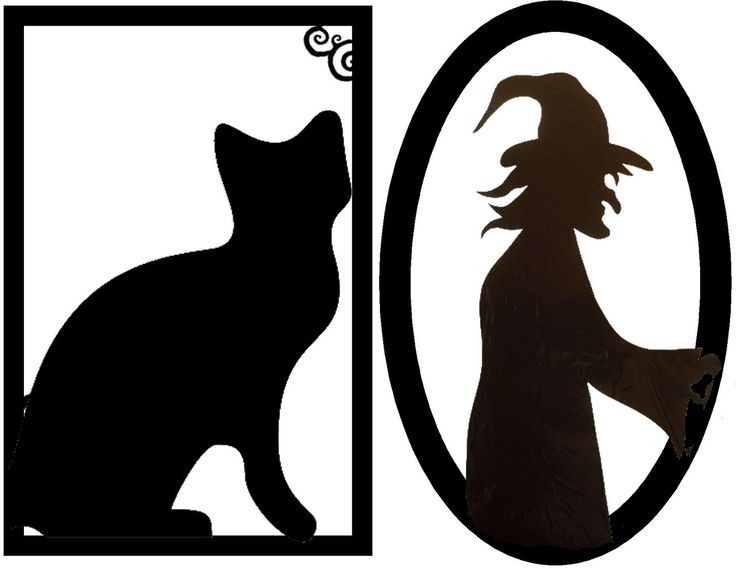 free silhouette cut outs for decorations ideas framed creepy silhouette decorations