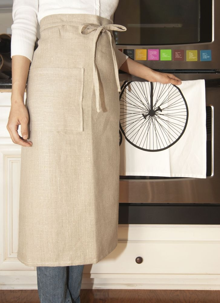 Linen Garcon Apron Natural bt Sewing aprons, Apron