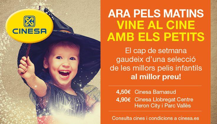 Nuevas Sesiones Matinales Infantiles en Cinesa. Películas infantiles. Ir al cine con niños. Cartelera cine infantil Barcelona. Cine niños hoy. Estrenos