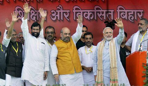 Defeating Nitish, Lalu in Bihar polls main target: BJP