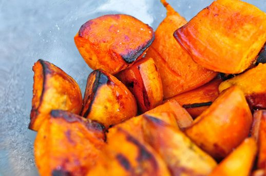 Grilling: Cider-Glazed Sweet Potatoes