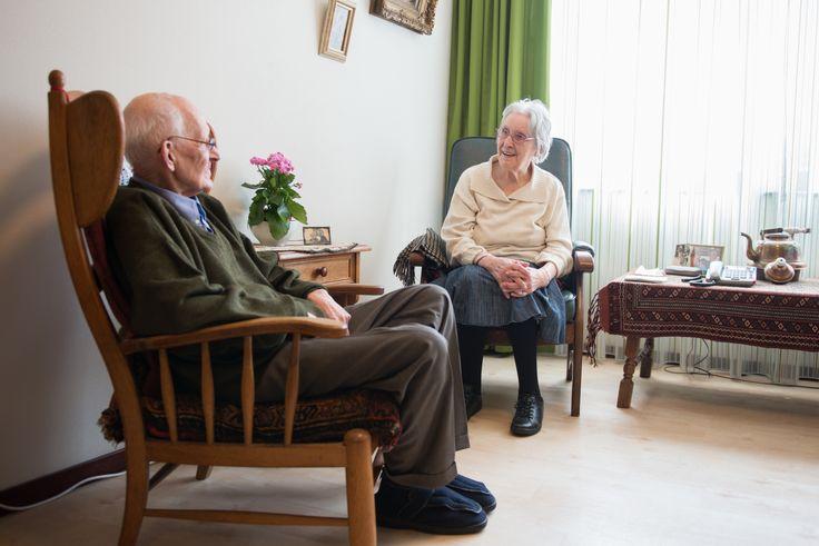 Uniek in WZH Leilinde zijn de vier appartementen voor echtparen met dementie.