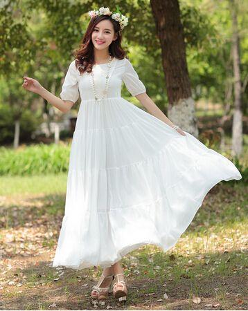 夏のスカートの女性ビーチドレスとkaftansイタリアのファッションホワイトオフィス、 女性用の長いエレガントなドレスの夜のパーティードレス